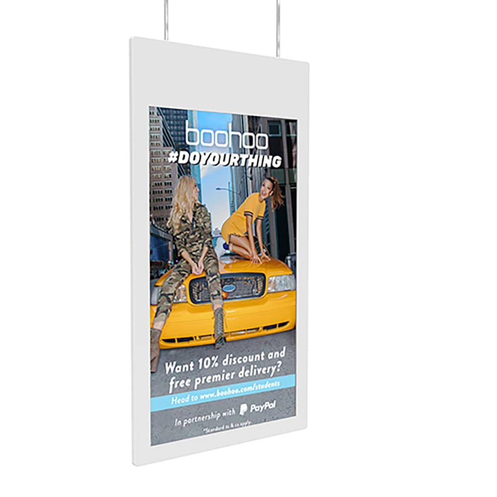 Double Sided Hanging Window Display Screen
