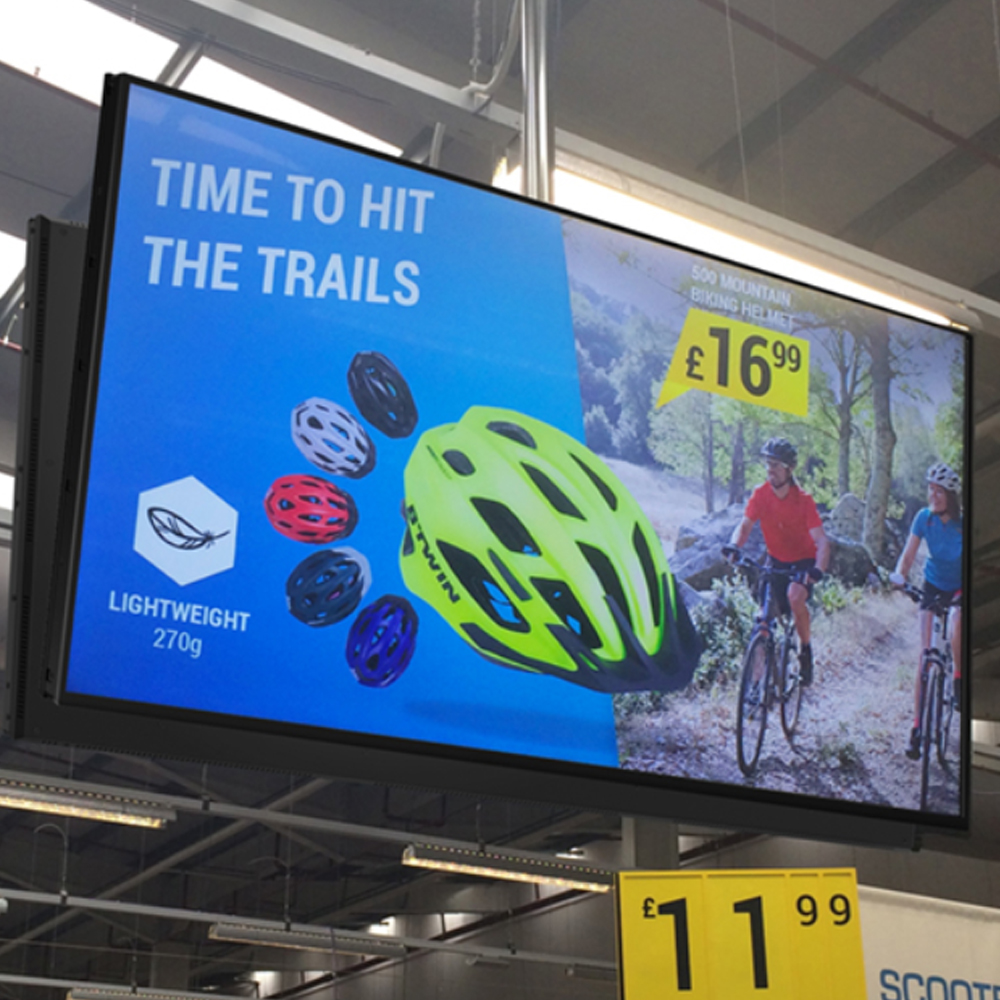 High Vibrance Digital Advertising Retail Screens