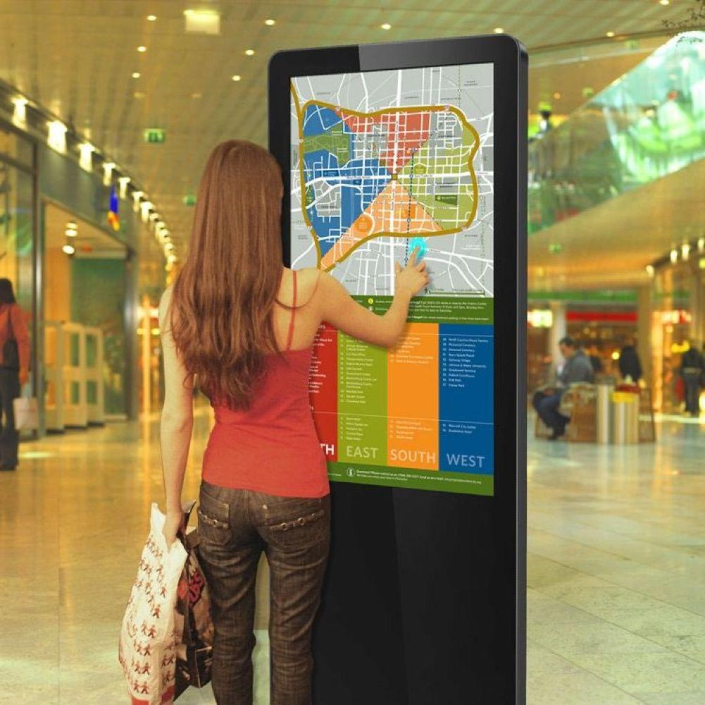 freestanding digital wayfinding