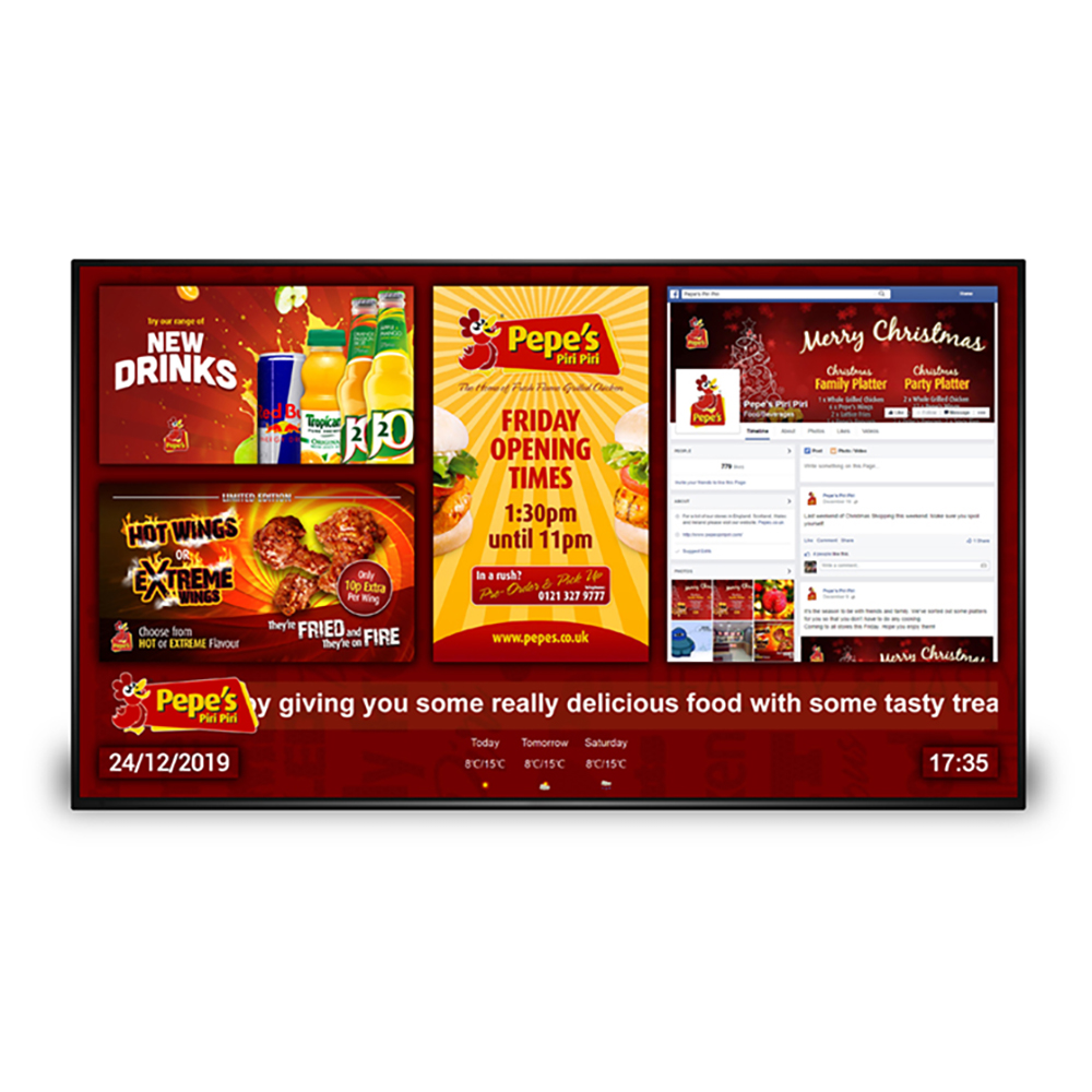 Digital Network Menu Board Screen