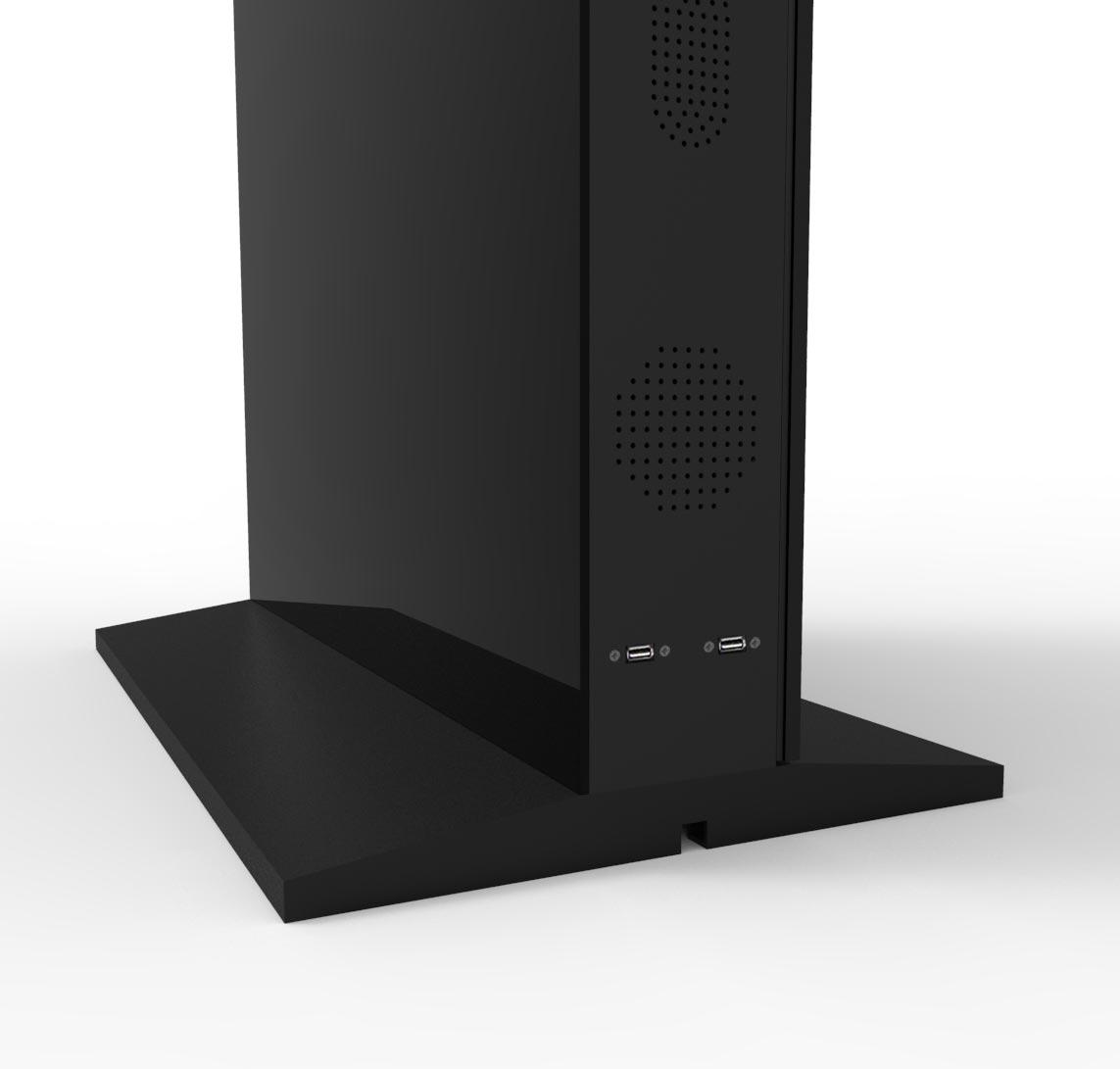 """55"""" Slimline Double-Sided Freestanding HD LCD Digital Advertising Display Digital Poste"""