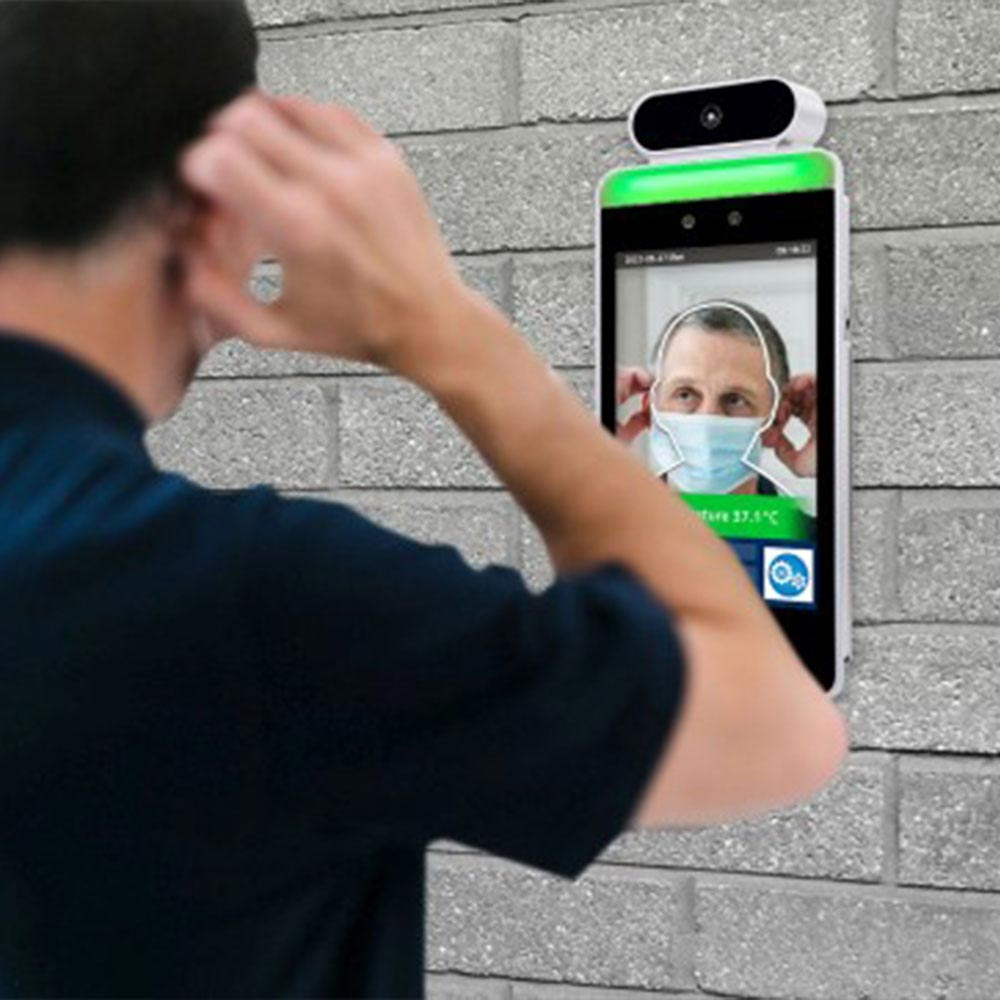 face recognition temperature sensing With wall mount