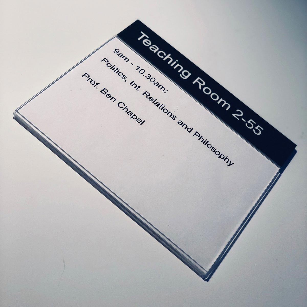 MSS A5 Wallet Sign for graphic paper insert - Static header information for room details