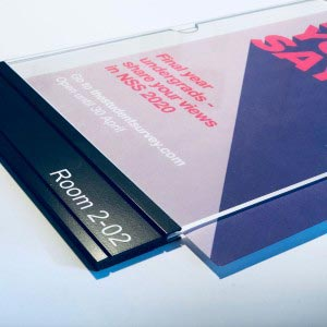 MSS A4 Wallet paper insert sign with static printed Informational panel