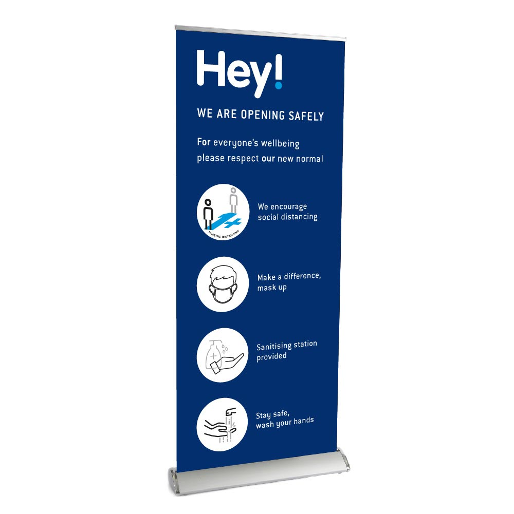 Single sided Popup Roller Banner