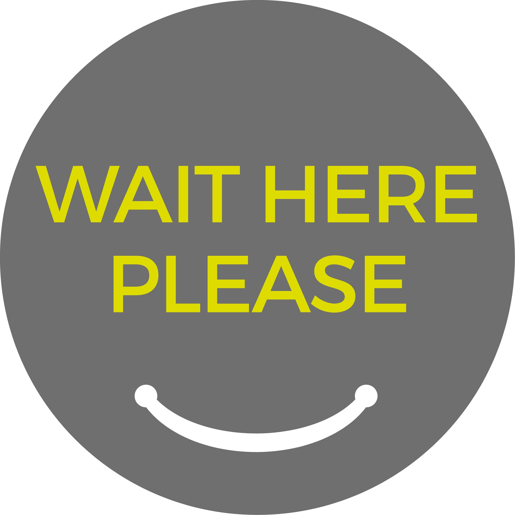 Wait Here Please - Grey Sticker