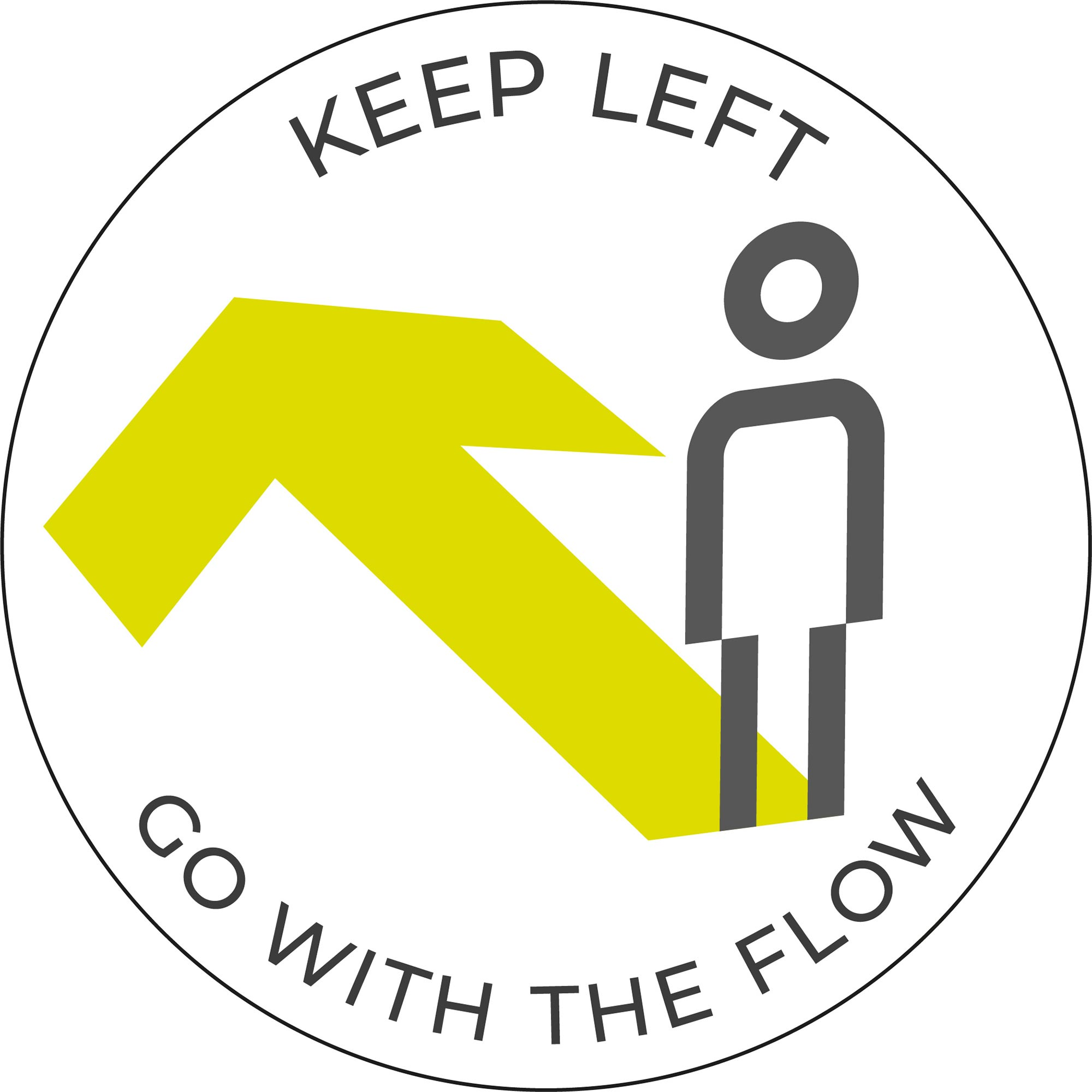 Go with the flow - White sticker