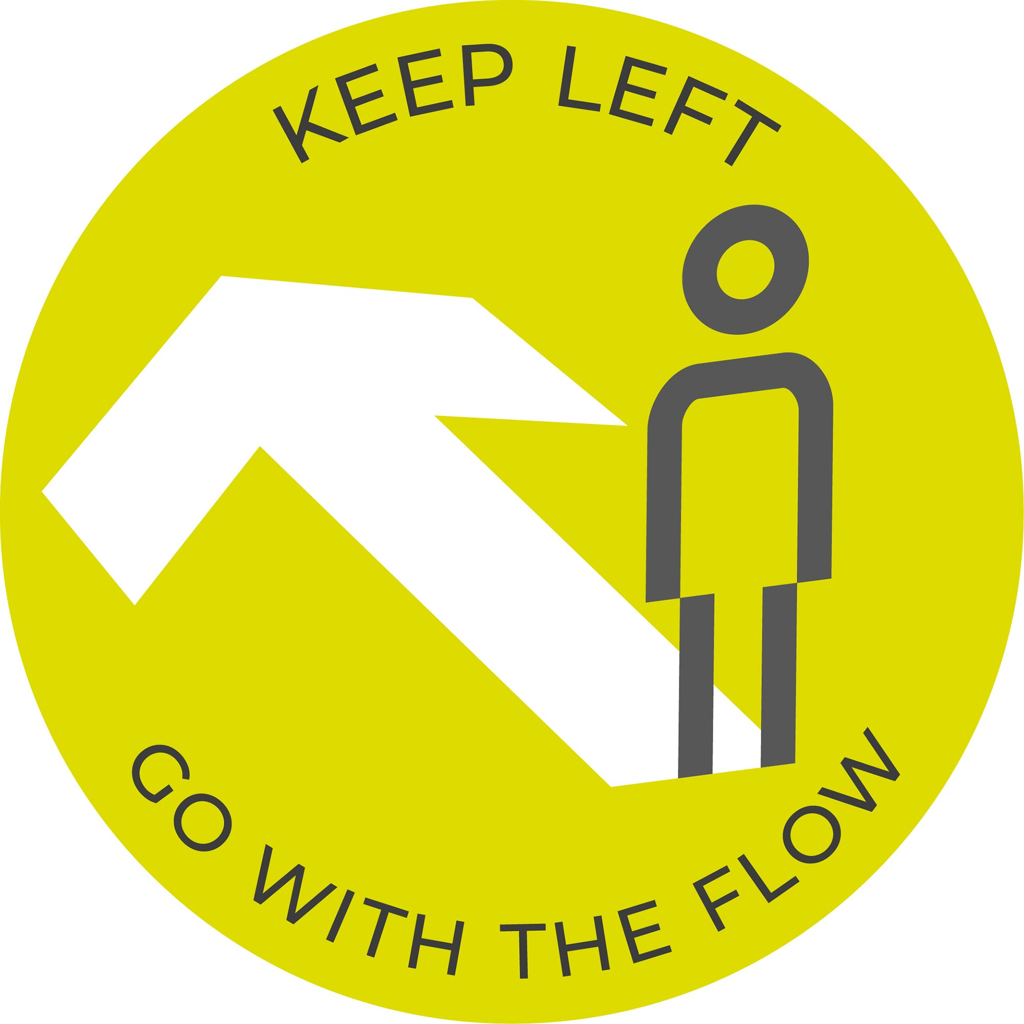 Go with the flow - Green sticker