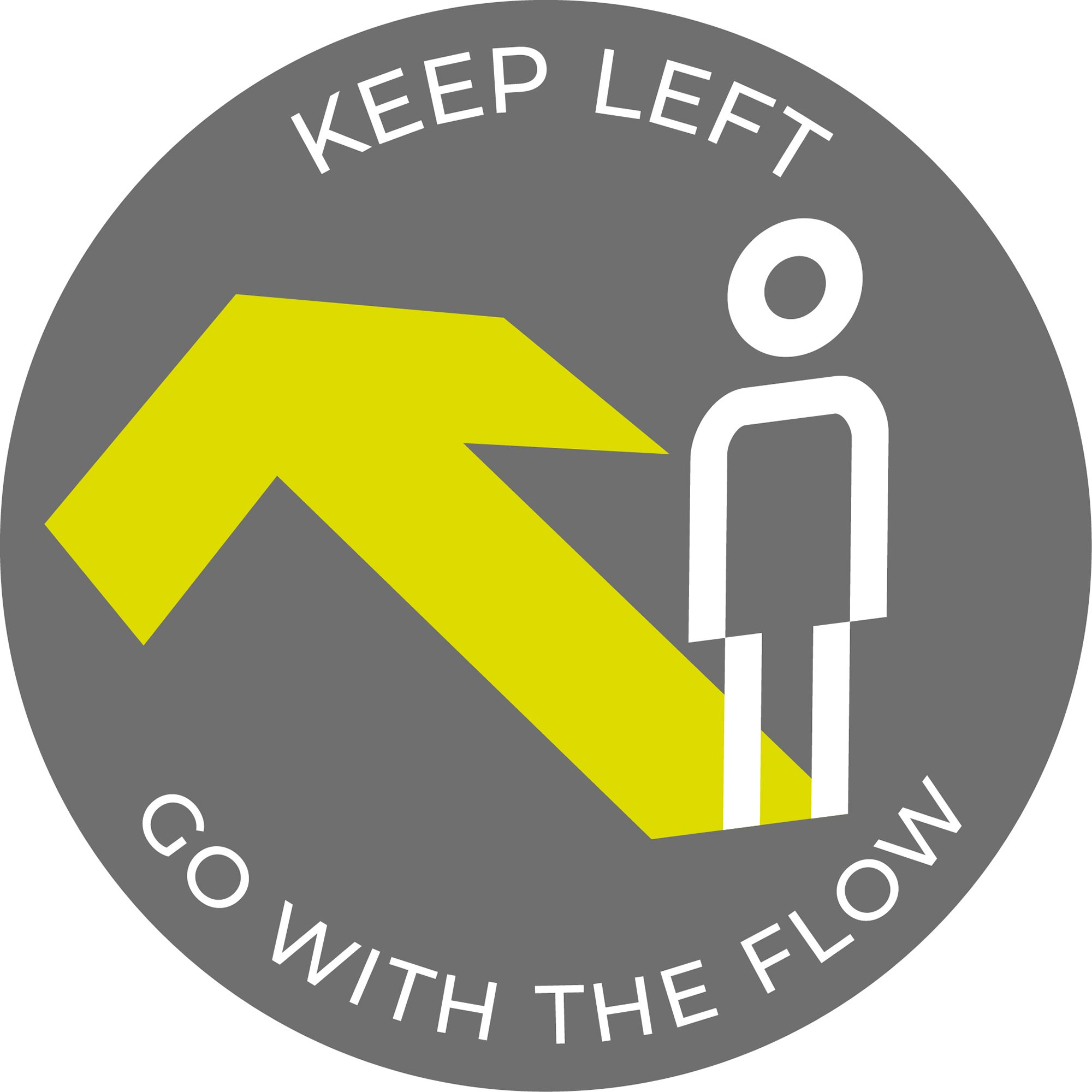 Go with the flow - Grey sticker