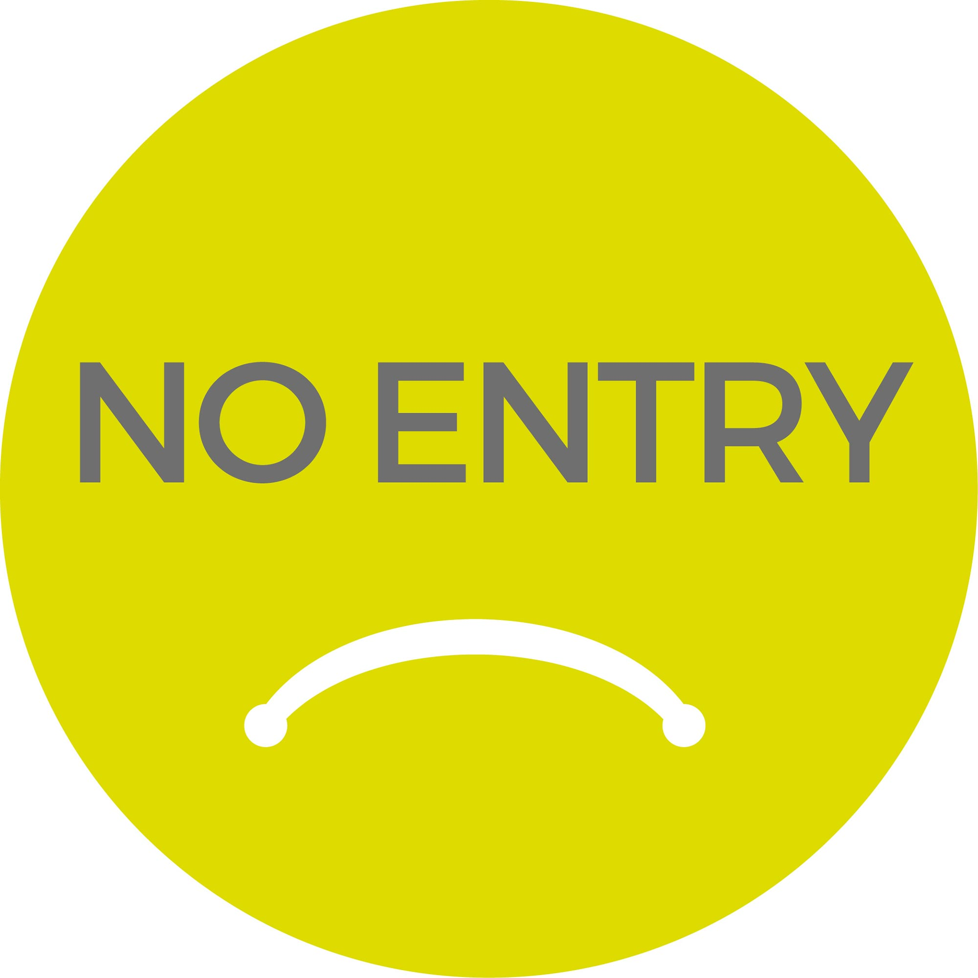 No Entry - Green Sticker