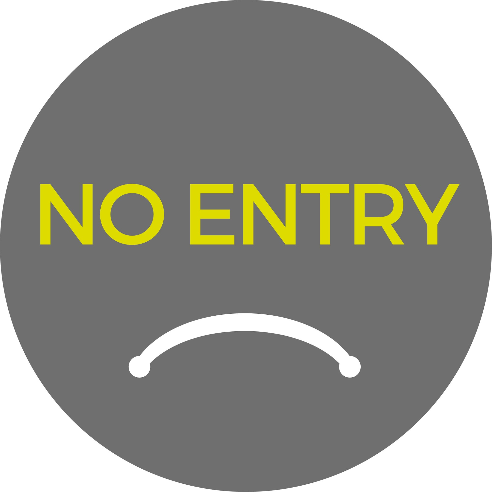 No Entry - Grey Sticker