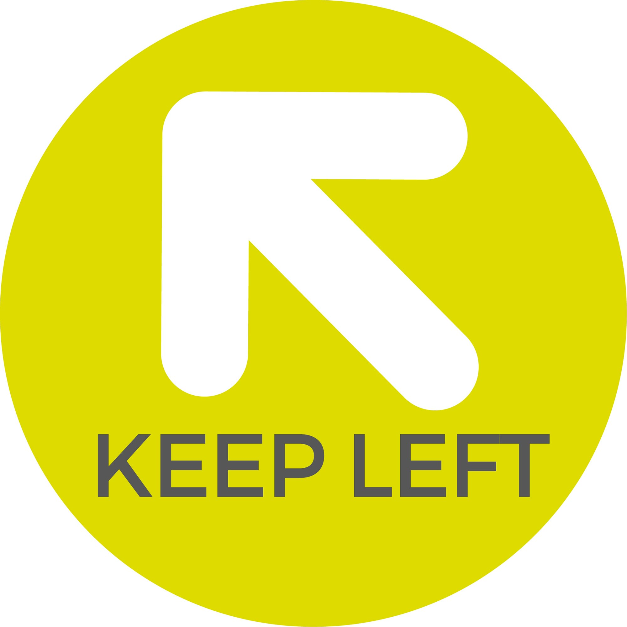 Keep Left - Green Sticker