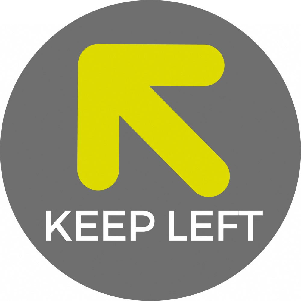 Keep Left - Grey Sticker