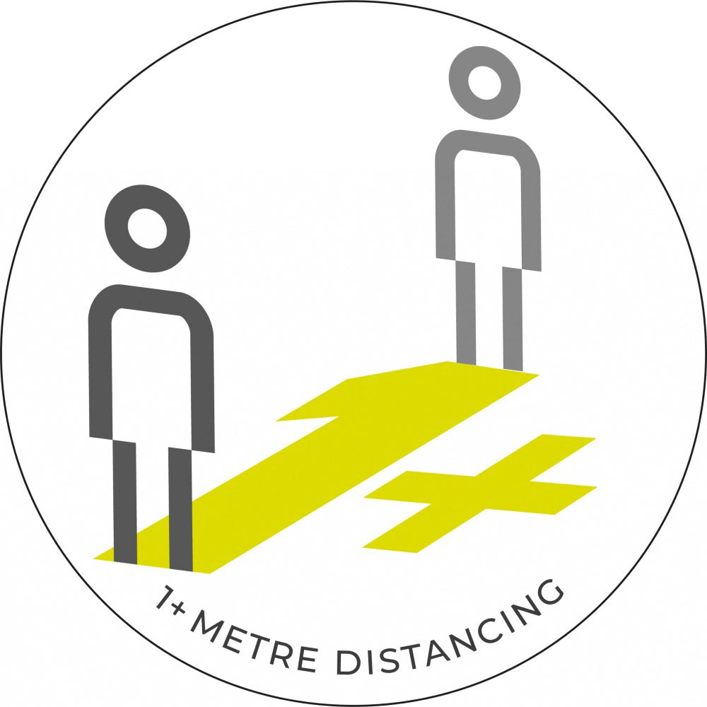 1 Metre + Distancing - White