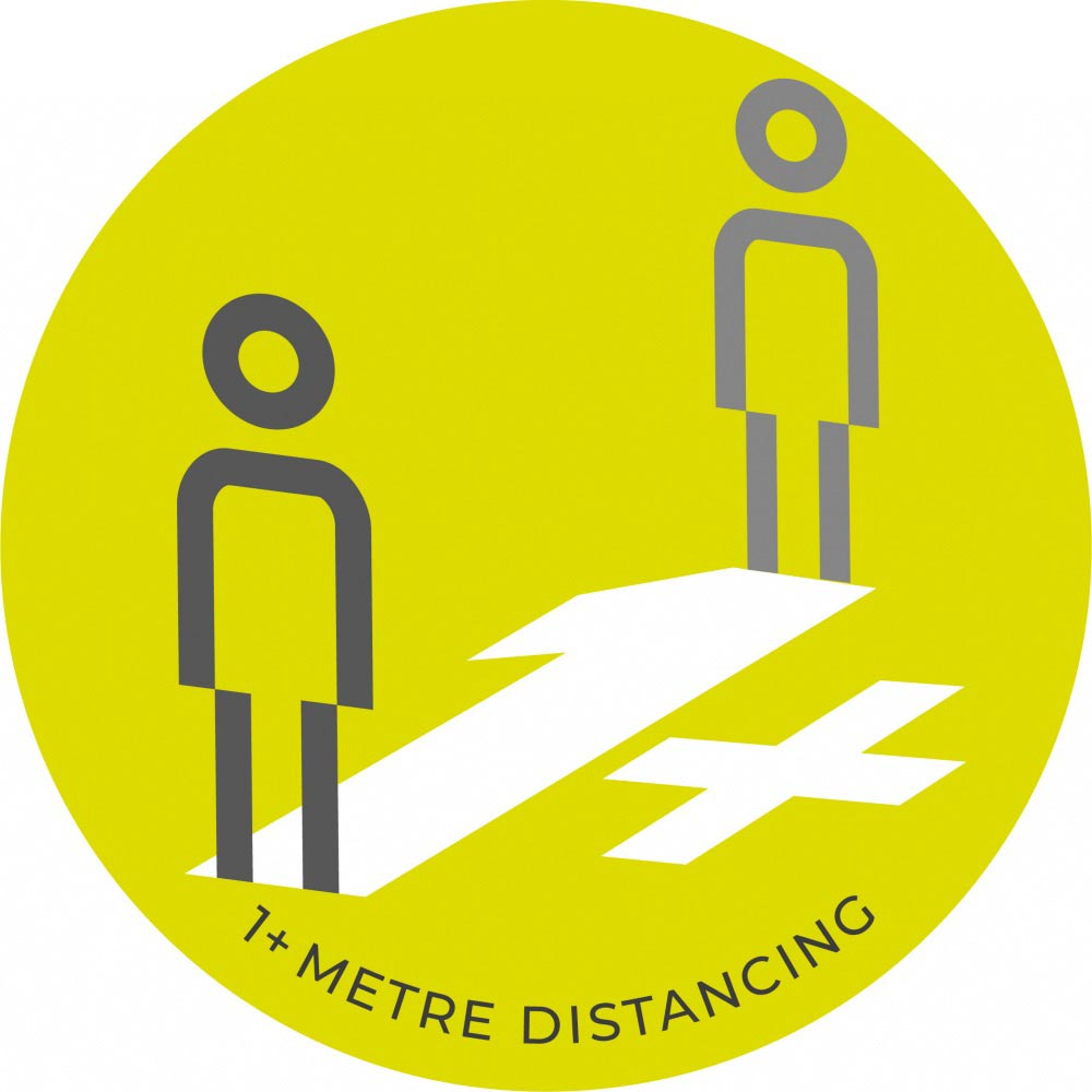1 Metre Distancing  - Green Sticker