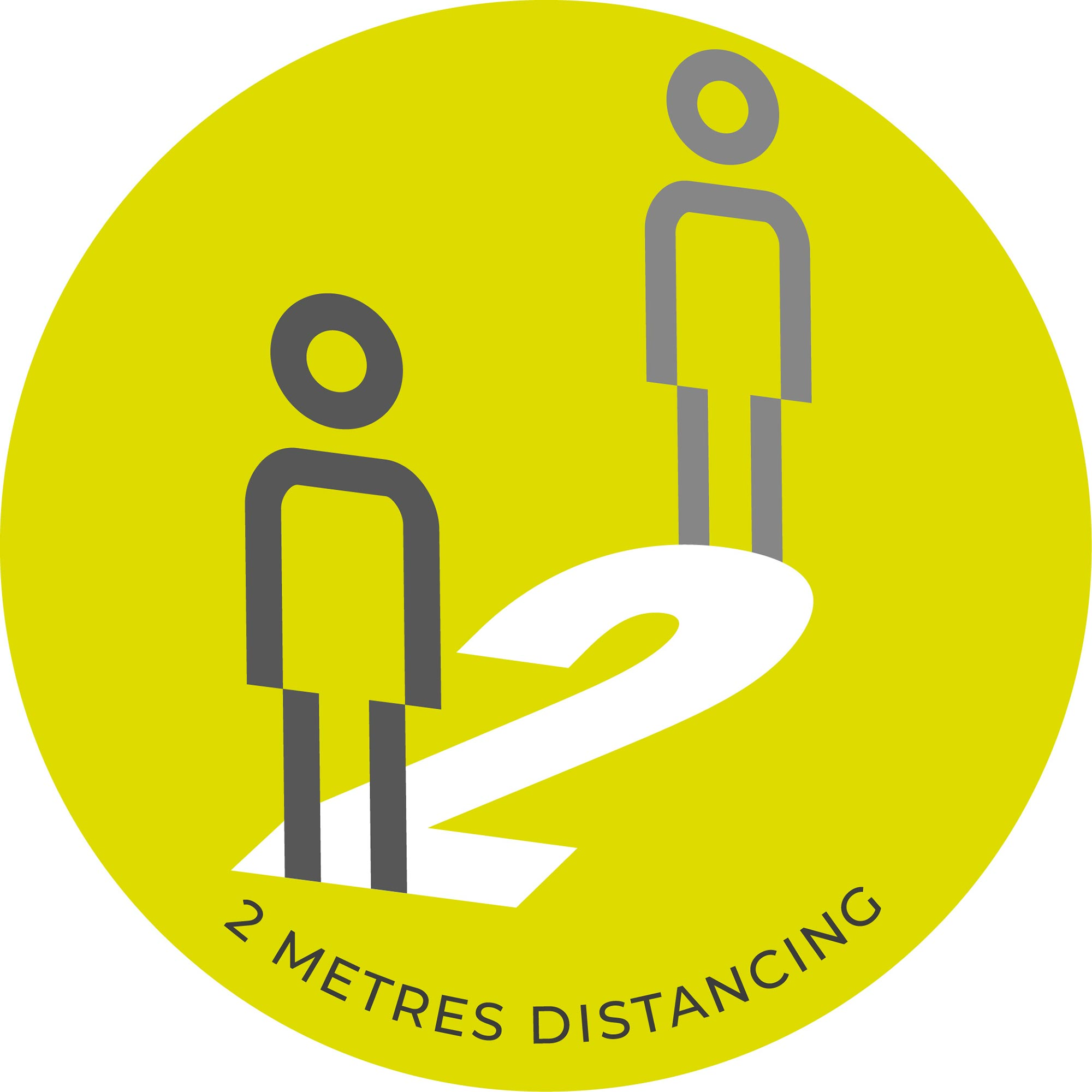 2 Metre Distancing  - Green Sticker