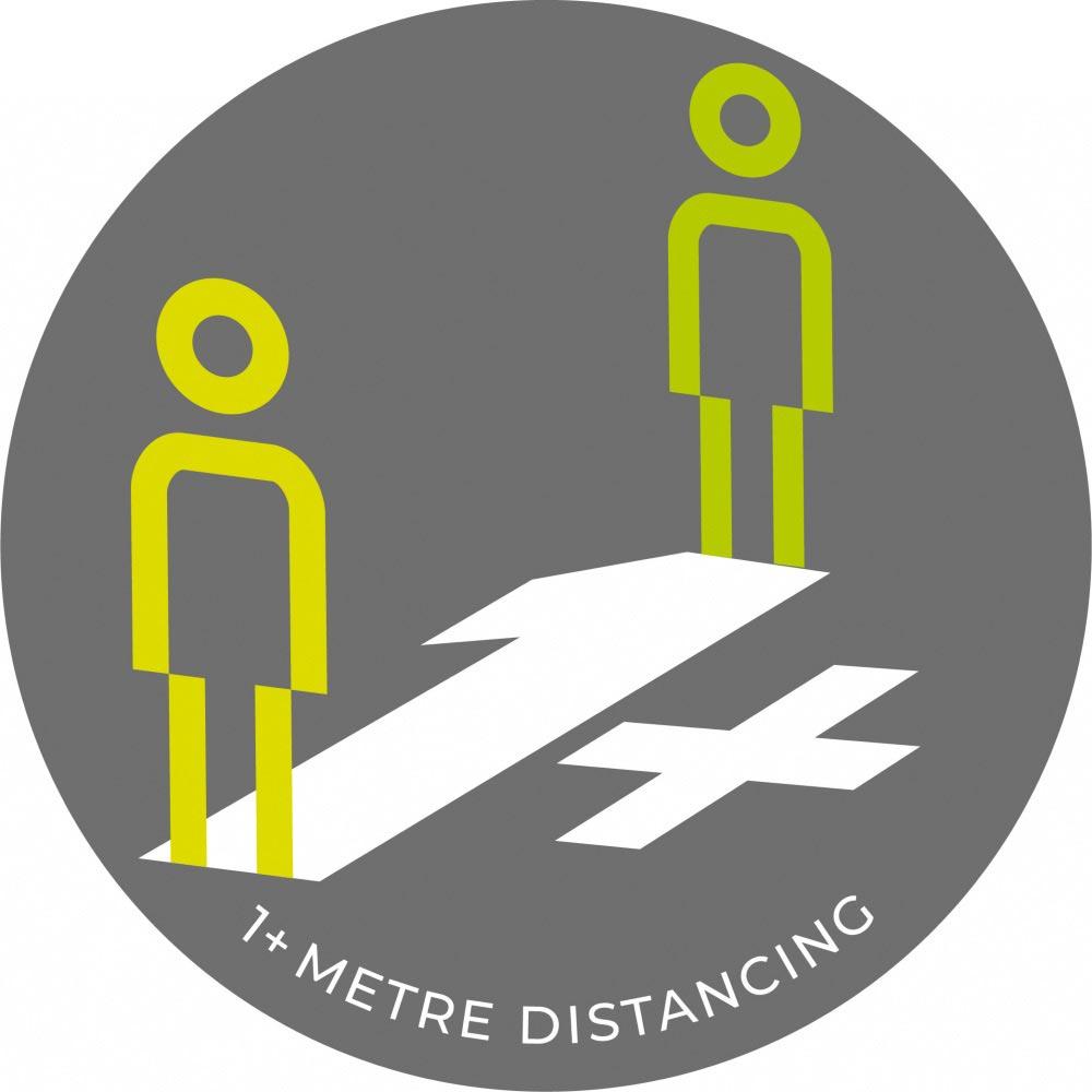 1 Metre + Distancing - Grey