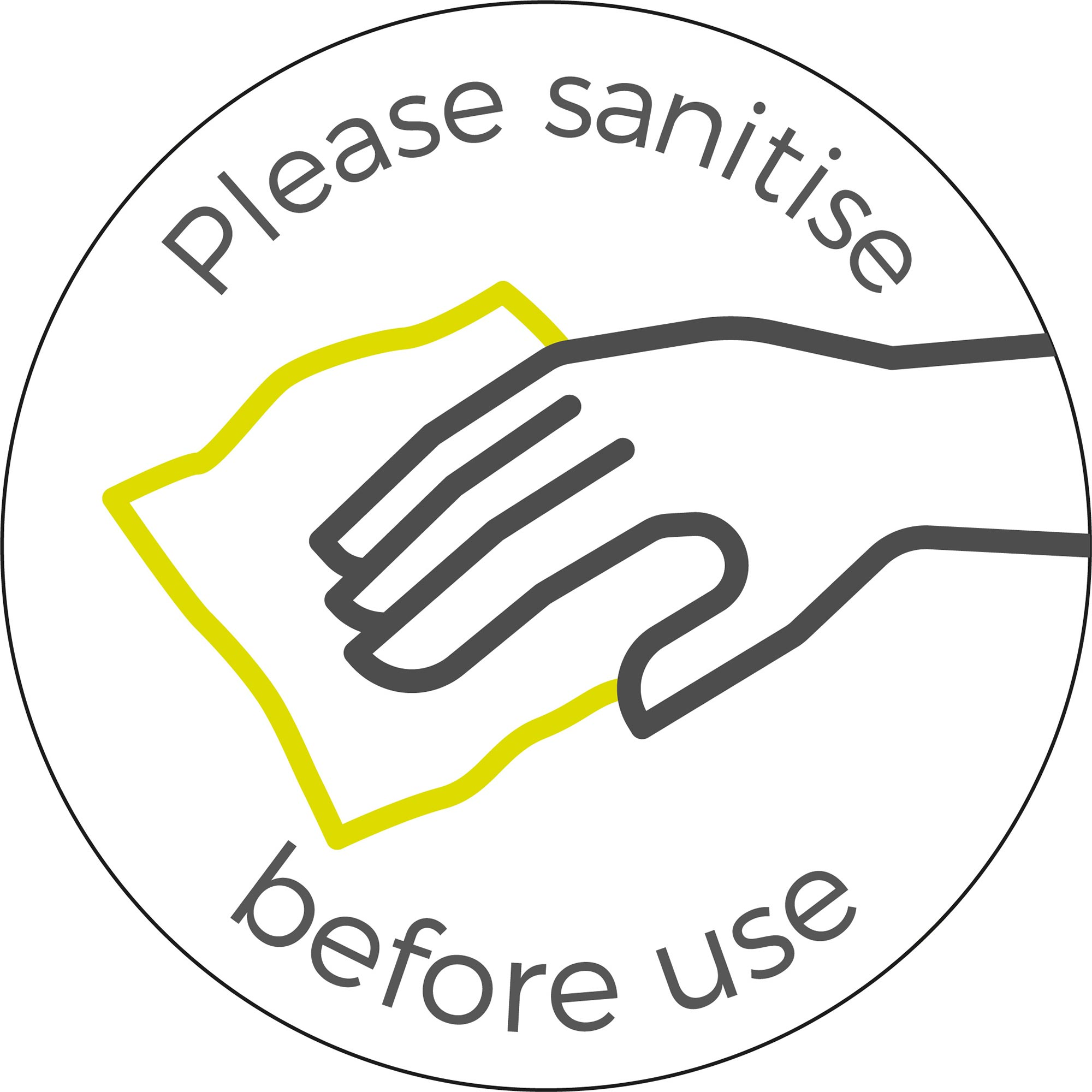 Please Sanitise - White Sticker