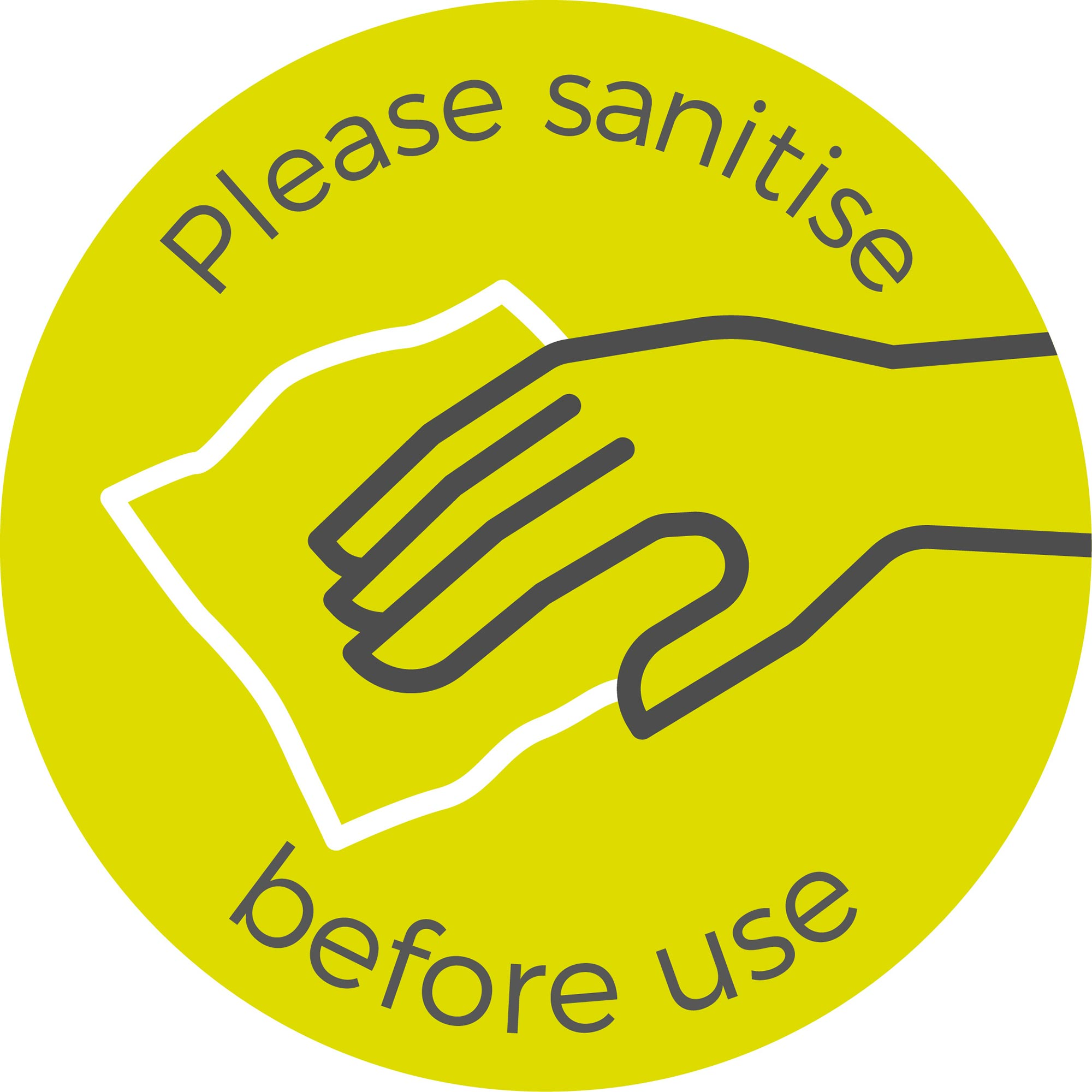 Please Sanitise - Green Sticker