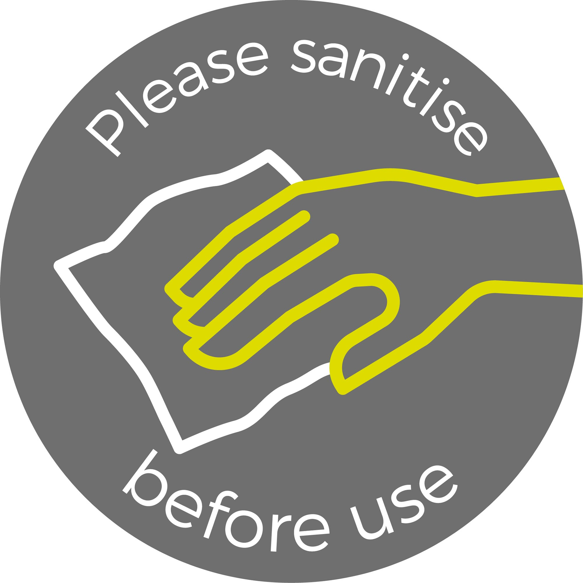 Please Sanitise - Grey Sticker