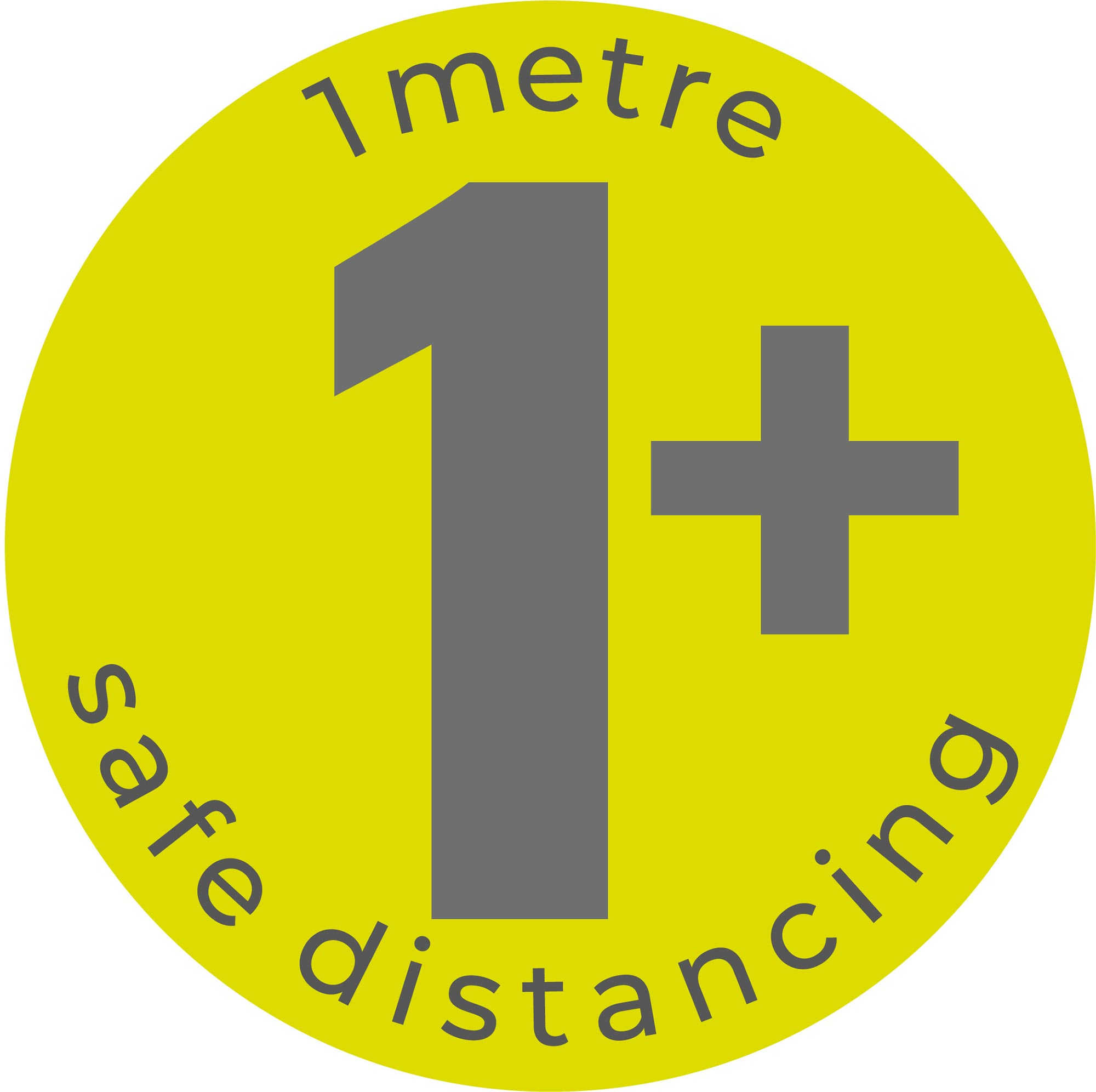 1m Safe Distancing - Green Sticker