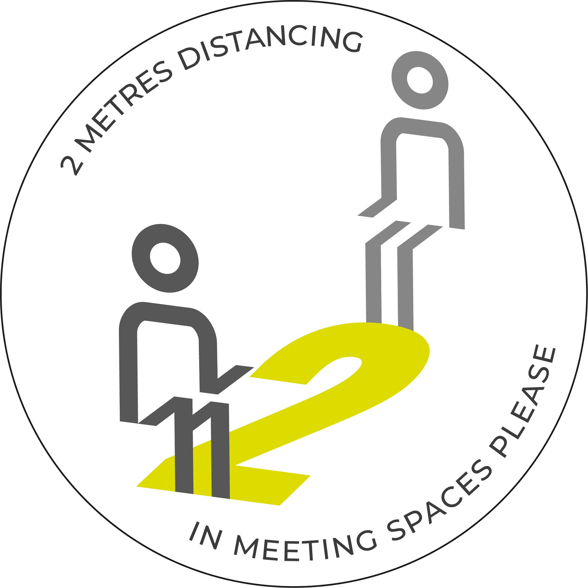 Meeting Spaces Distancing - White sticker