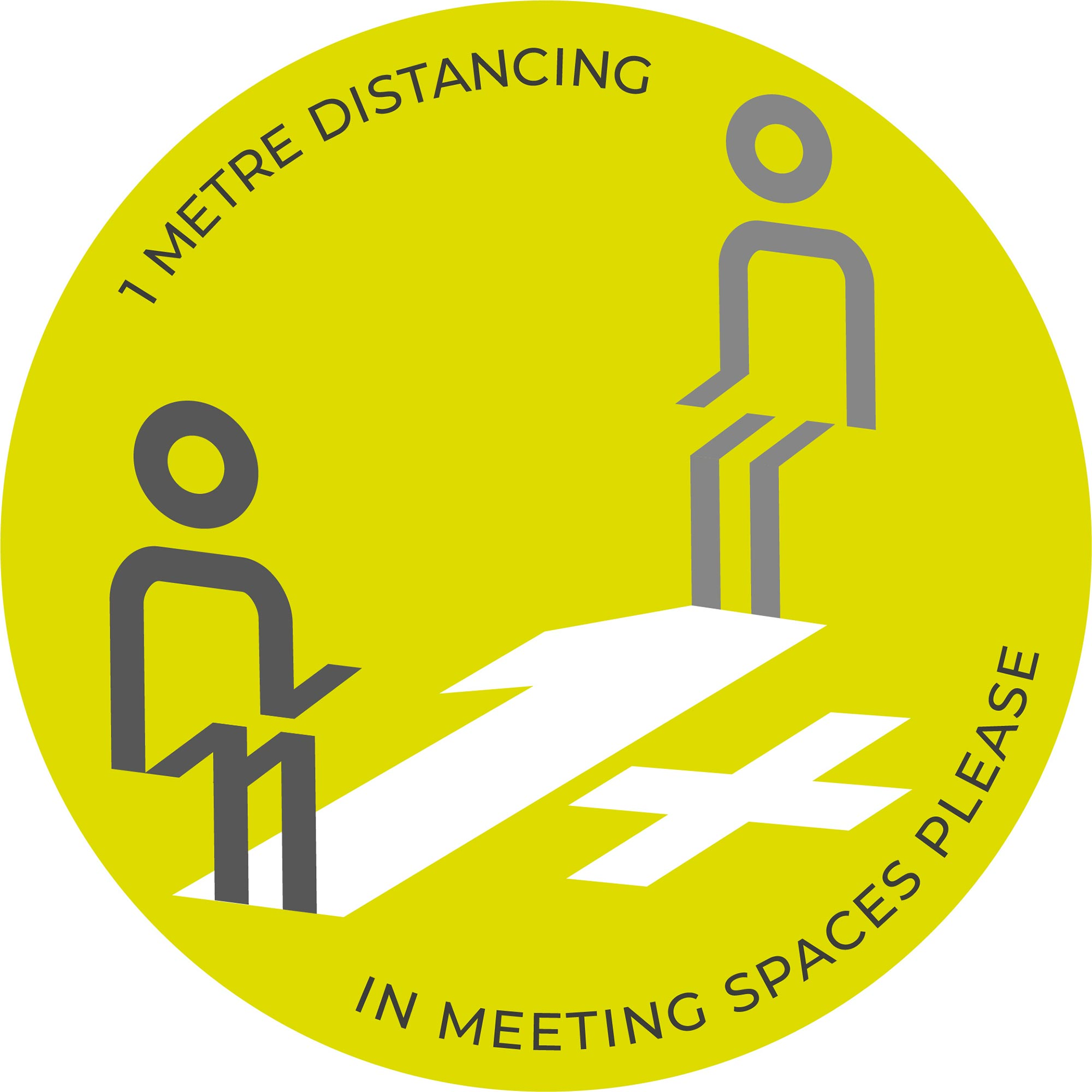 1m Meeting Spaces Distancing - Green sticker