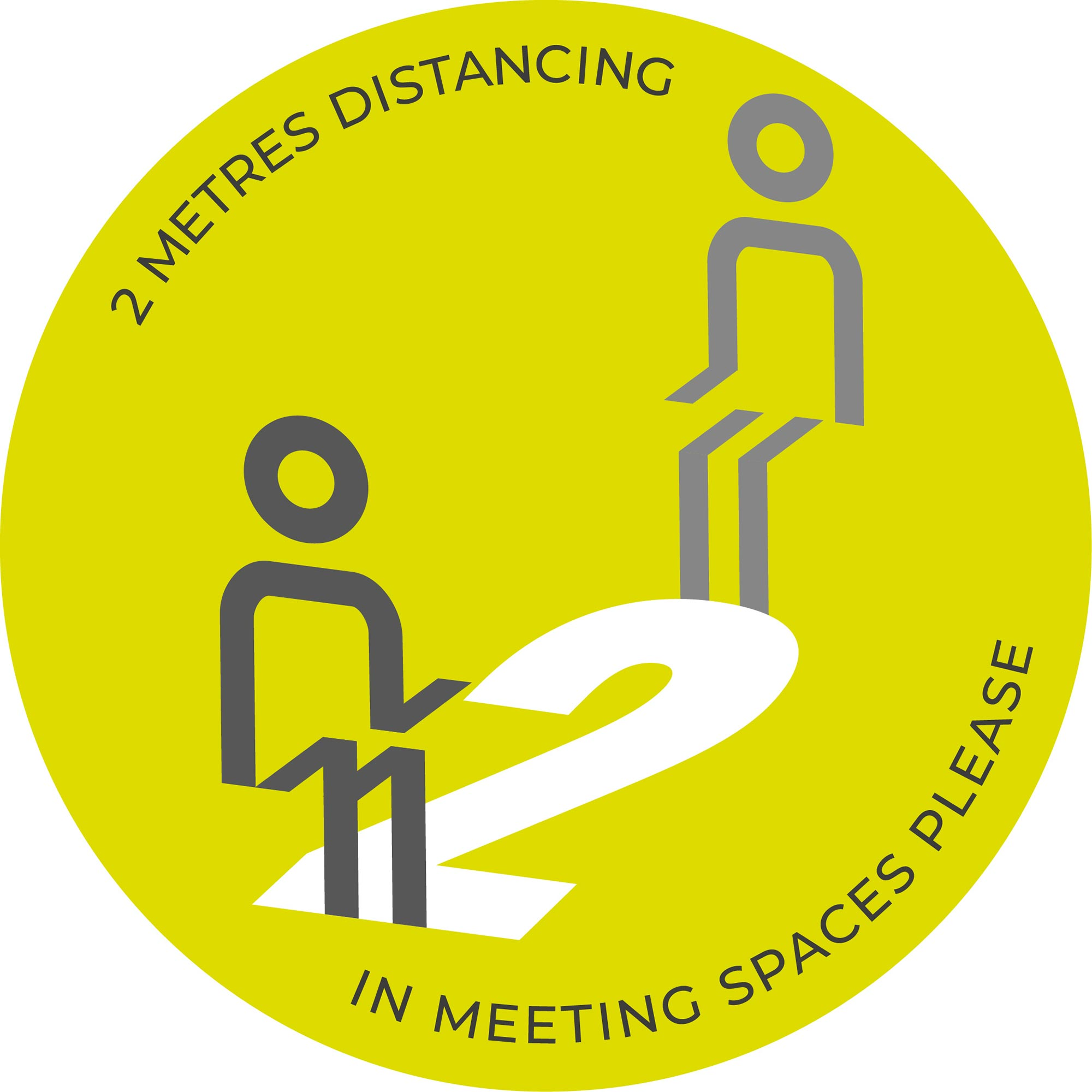 Meeting Spaces Distancing - Green sticker
