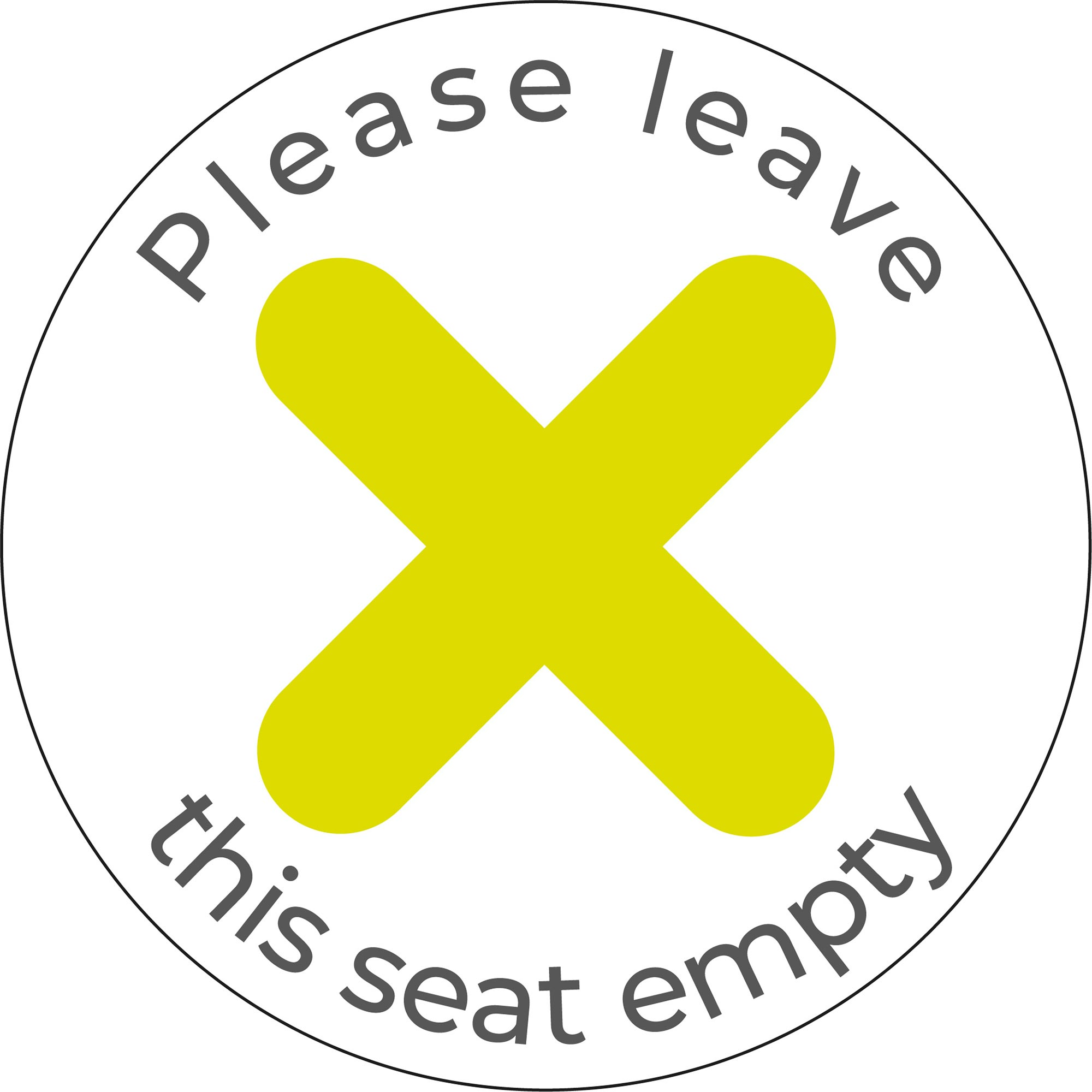 Please Leave Seat Empty - White Sticker