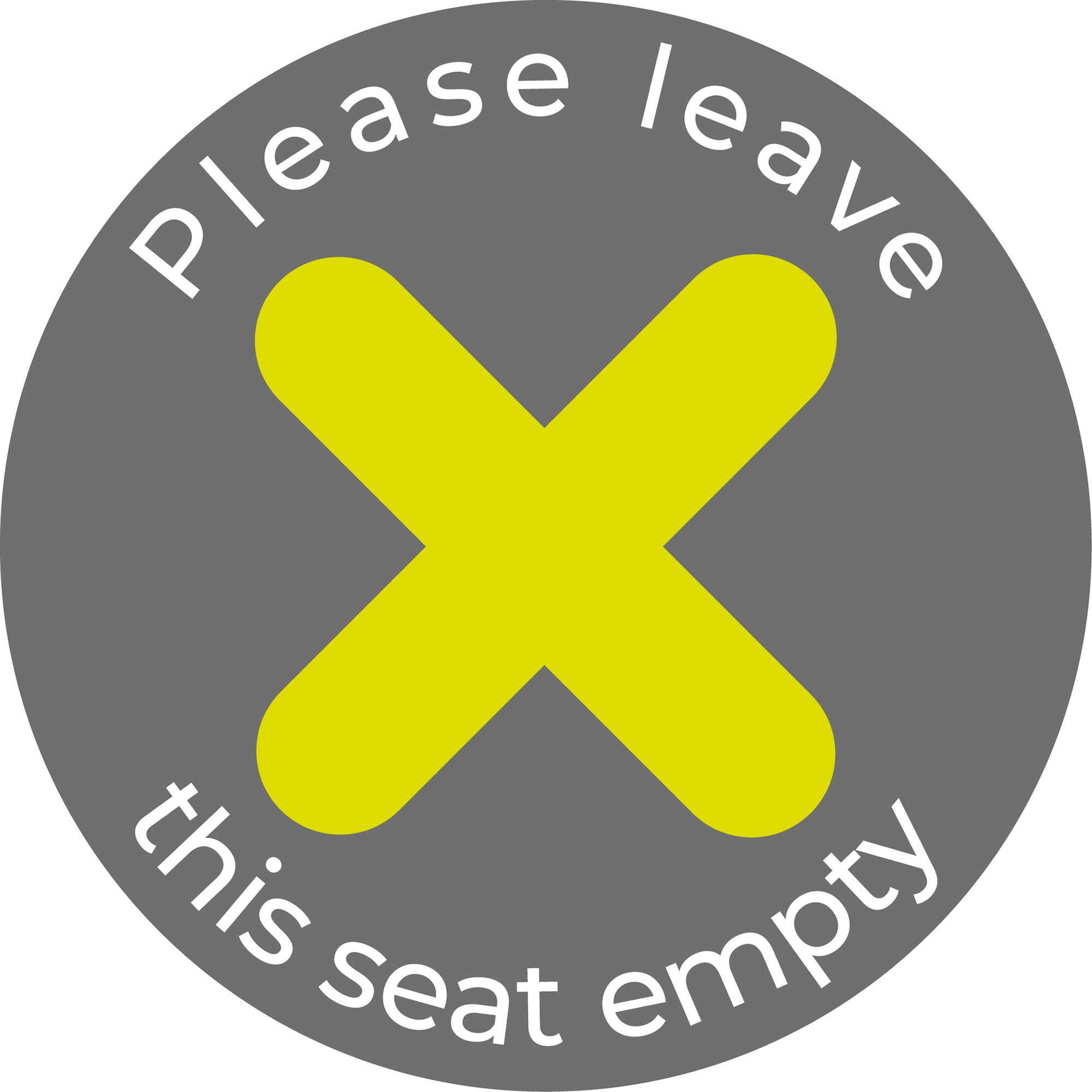 Please Leave Seat Empty - Grey Sticker