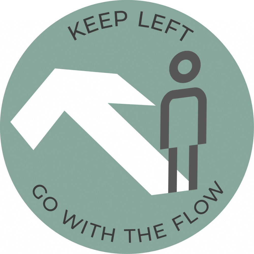 Go with the flow - Teal Sticker