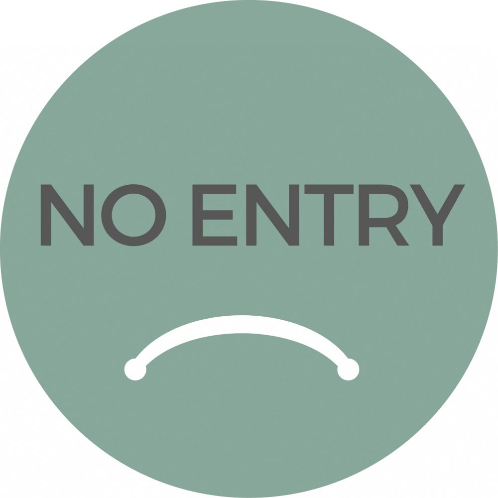 No Entry - Teal