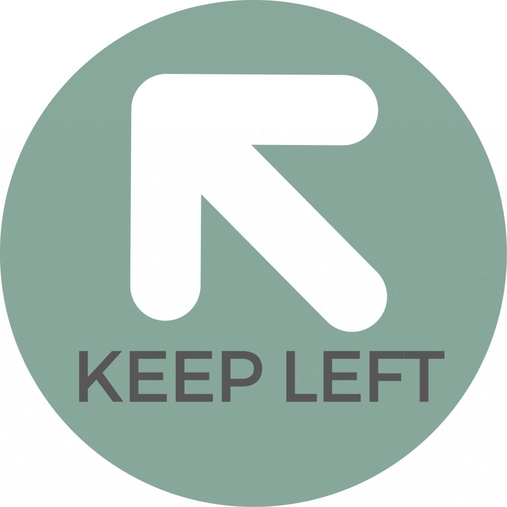 Keep Left - Teal Sticker