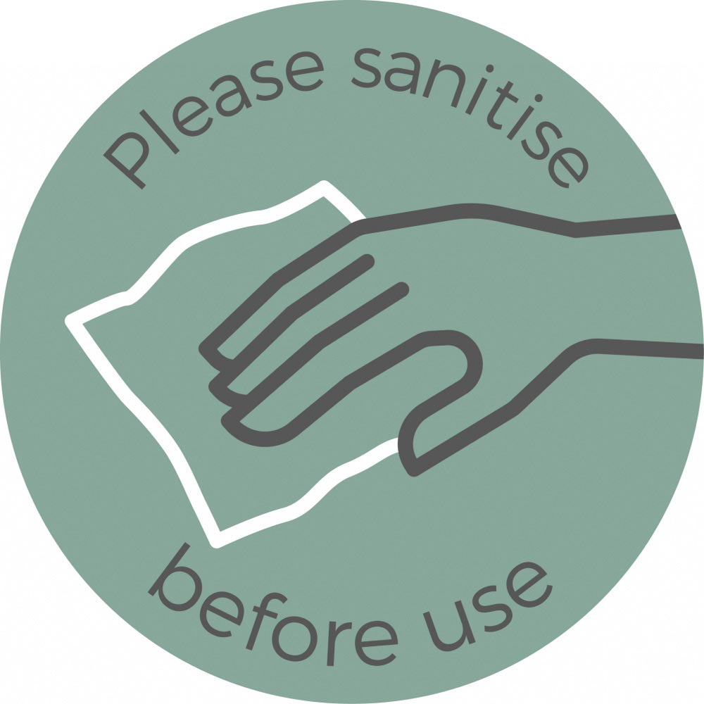 Please Sanitise - Teal Sticker