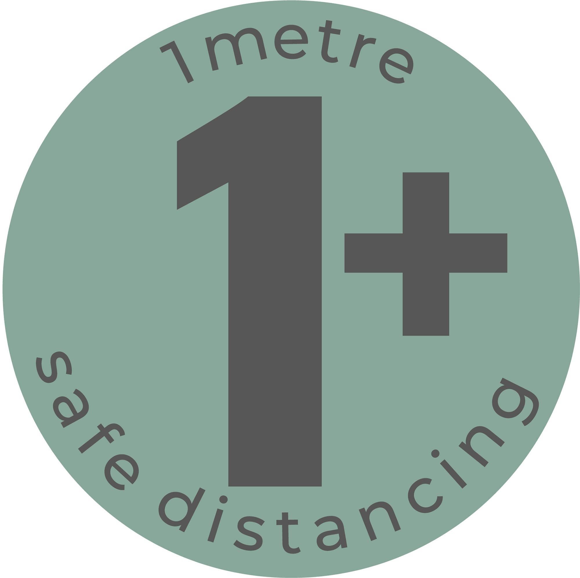 1m Safe Distancing - Teal Sticker