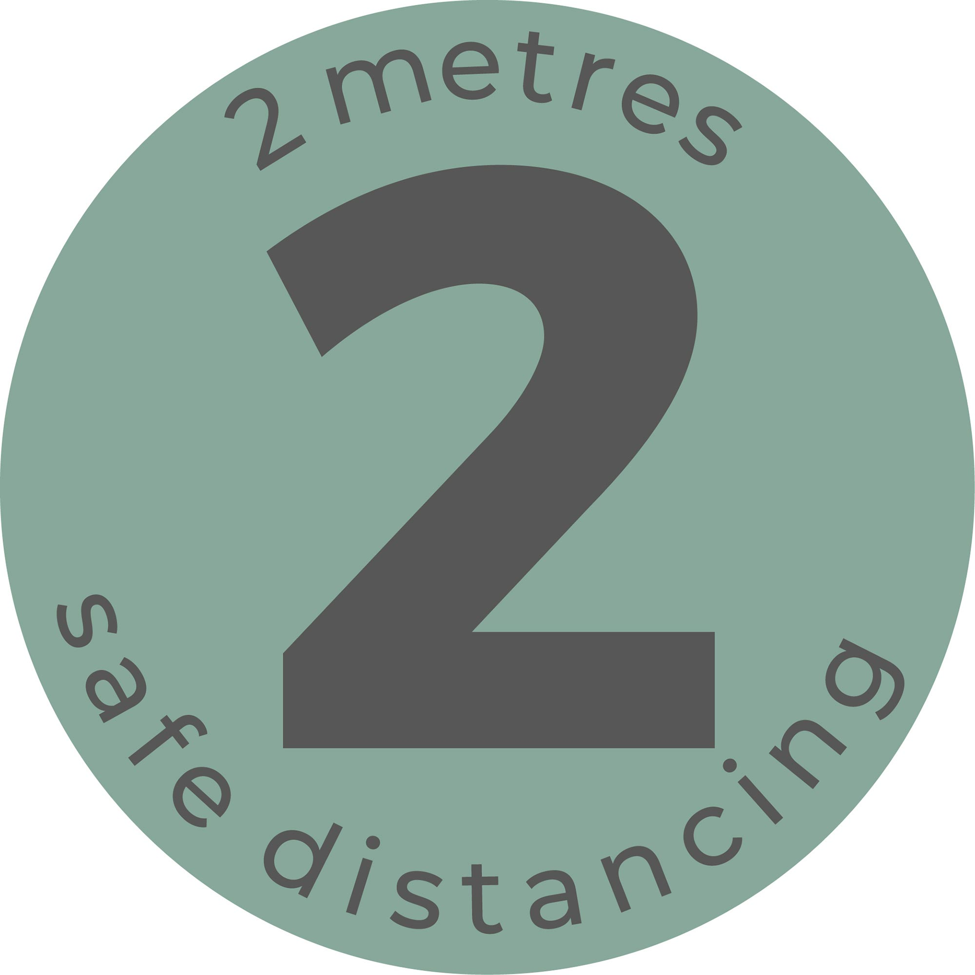 Safe Distance - Teal Sticker