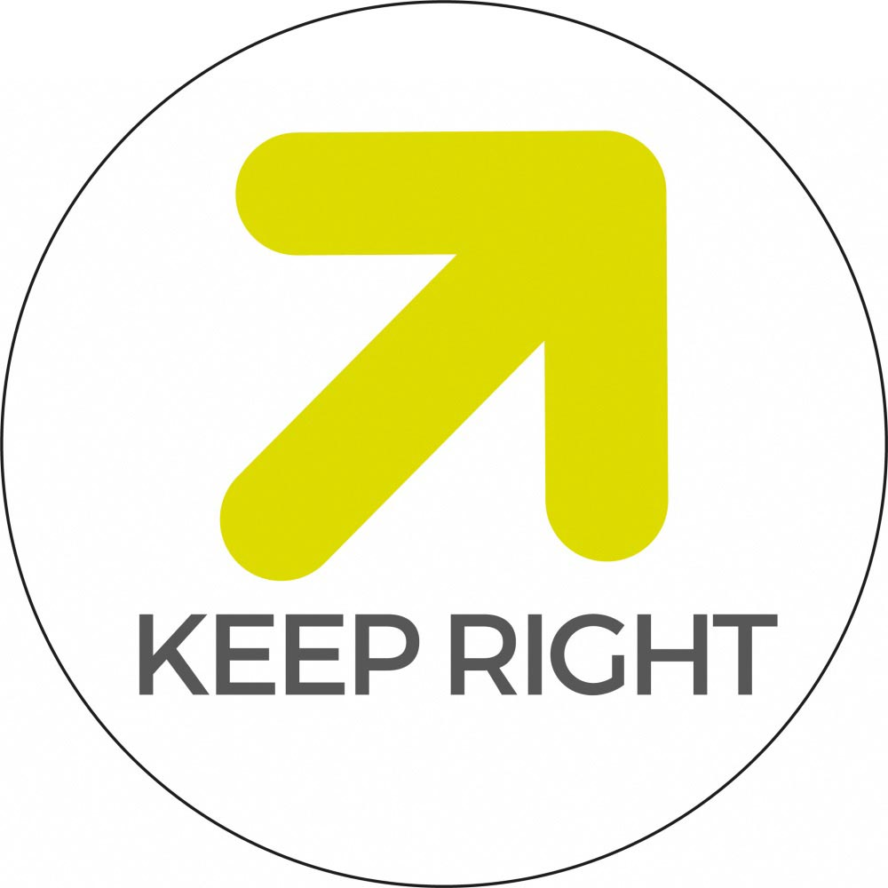 Keep right - White Sticker
