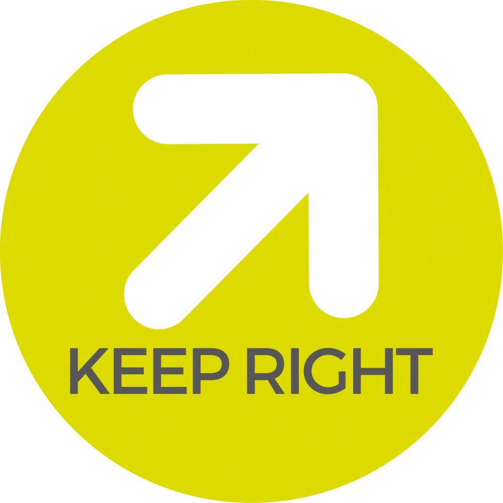 Keep right - Green Sticker