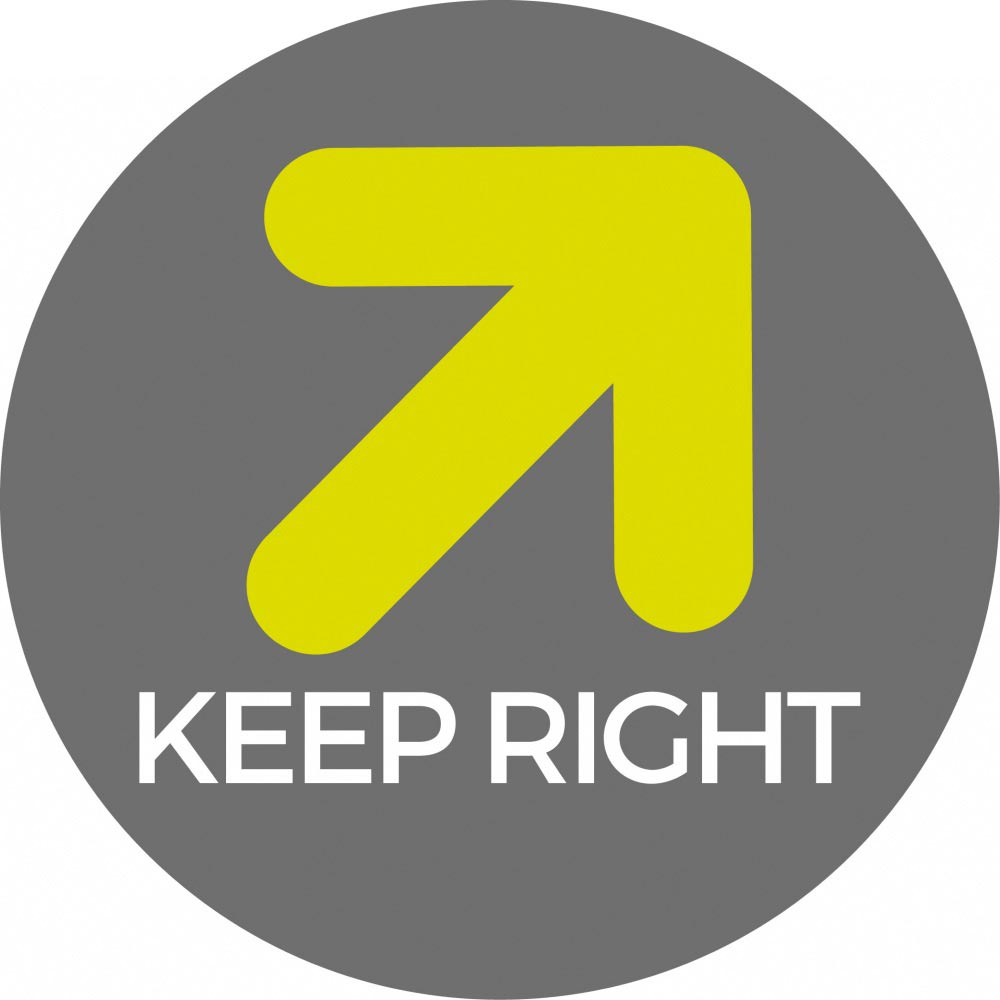 Keep right - Grey Sticker