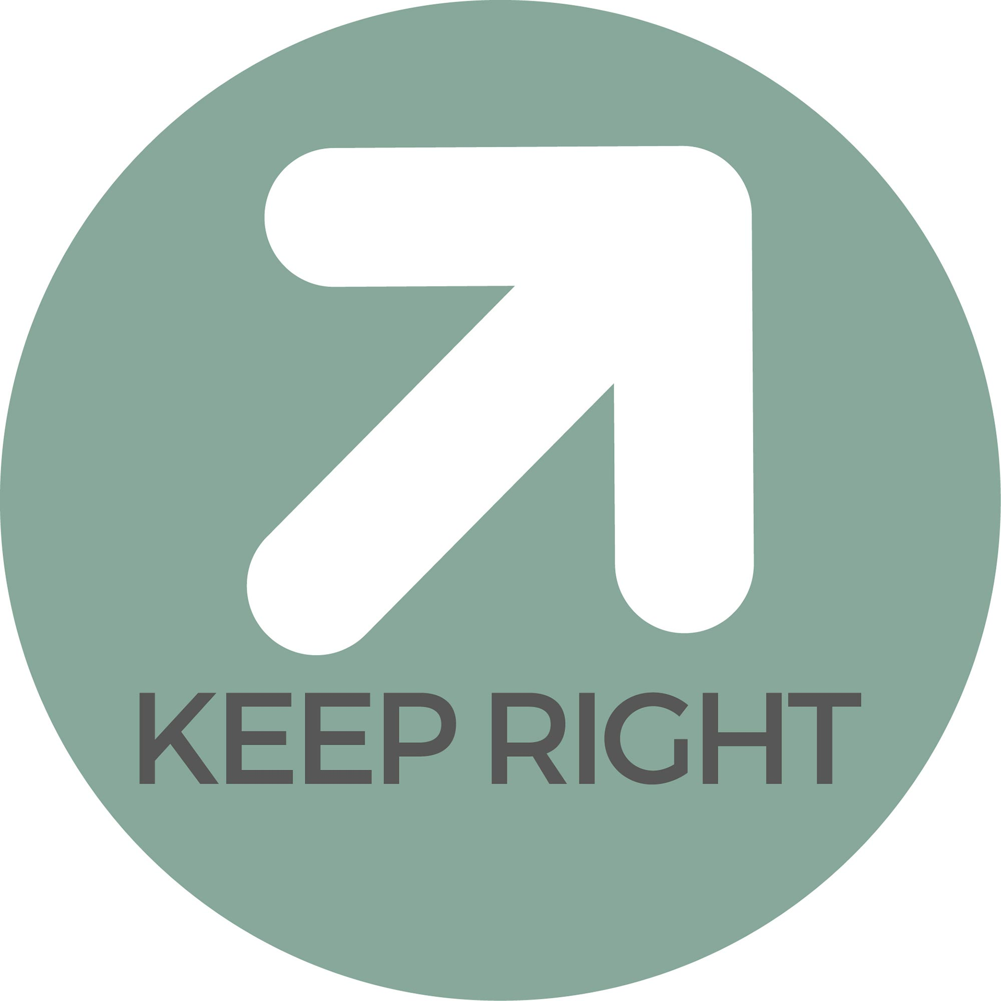 Keep right - Teal Sticker