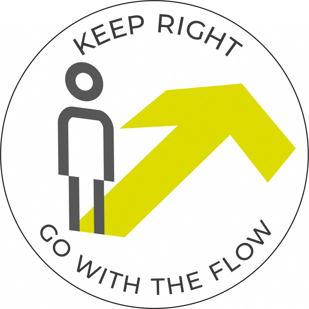 Go with the flow Right- White Sticker