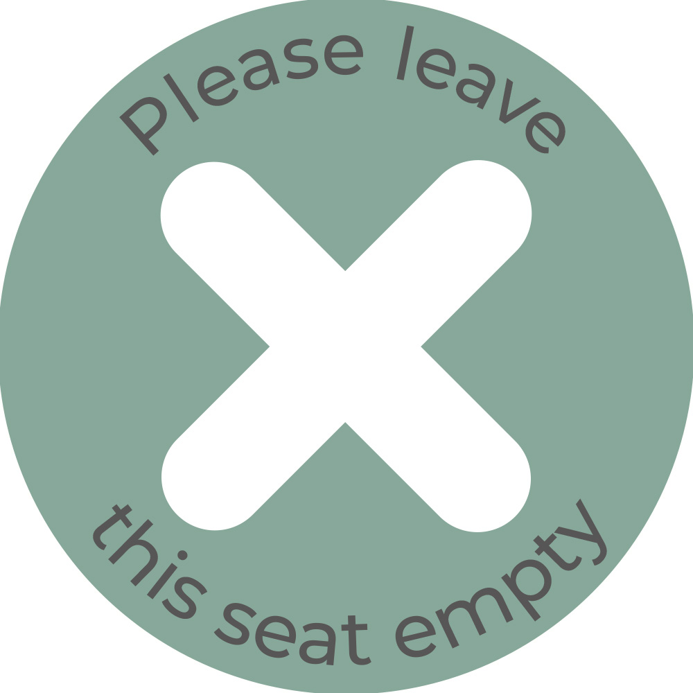 Please Leave Seat Empty - Teal