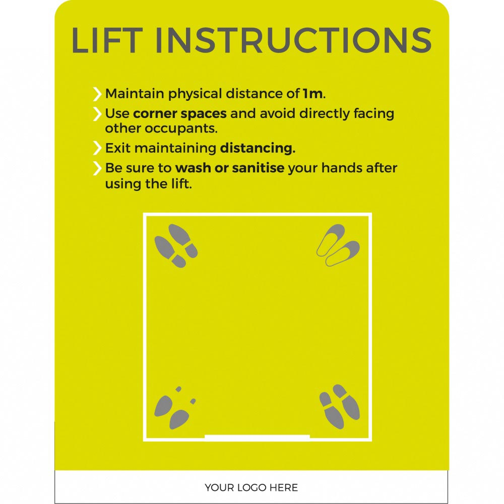 Lift social Distancing - Lime Green