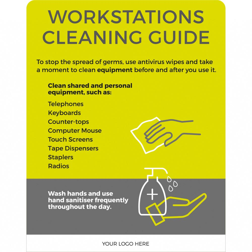 Workstation cleaning guide - Lime Green