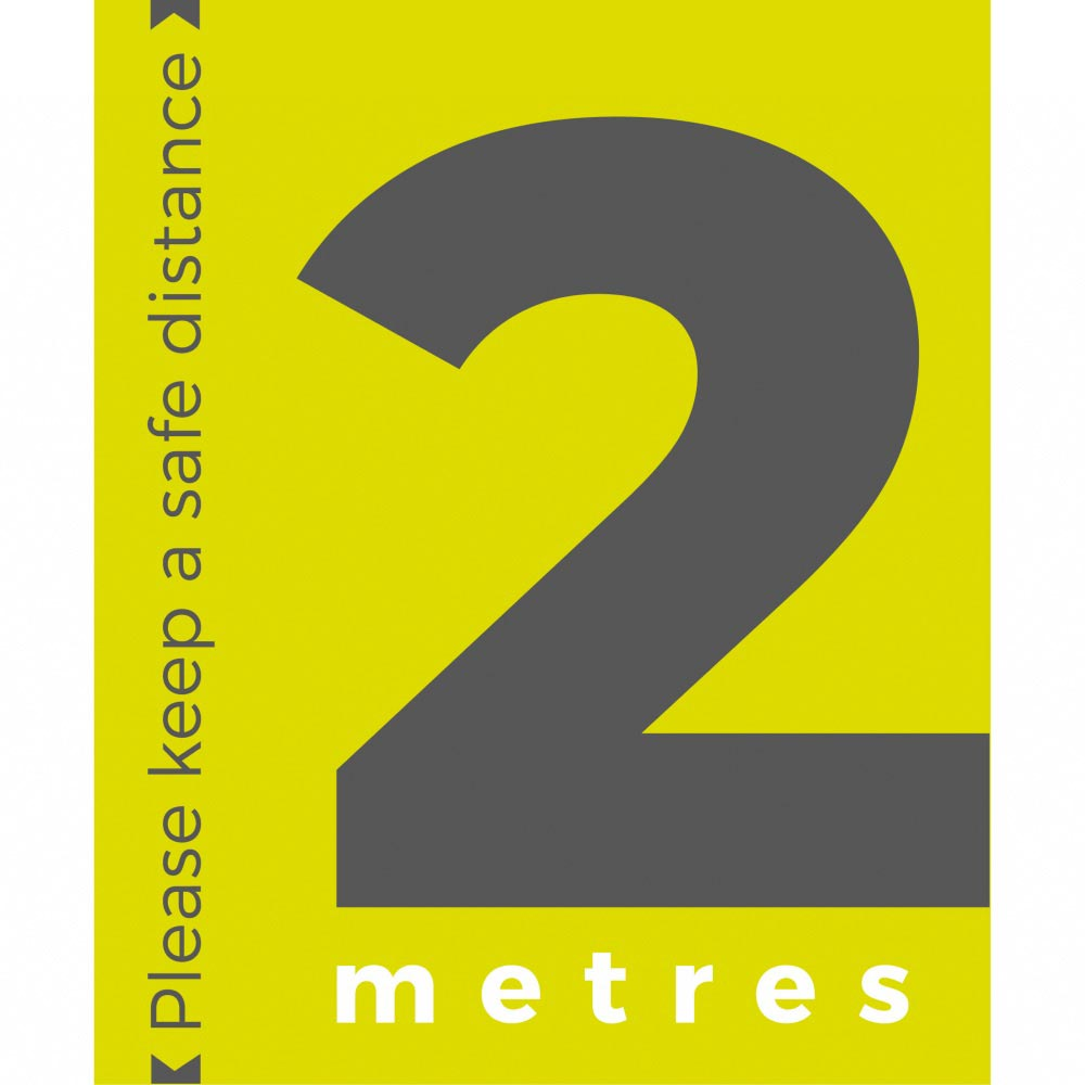 Information sign 2 metres portrait - Lime Green
