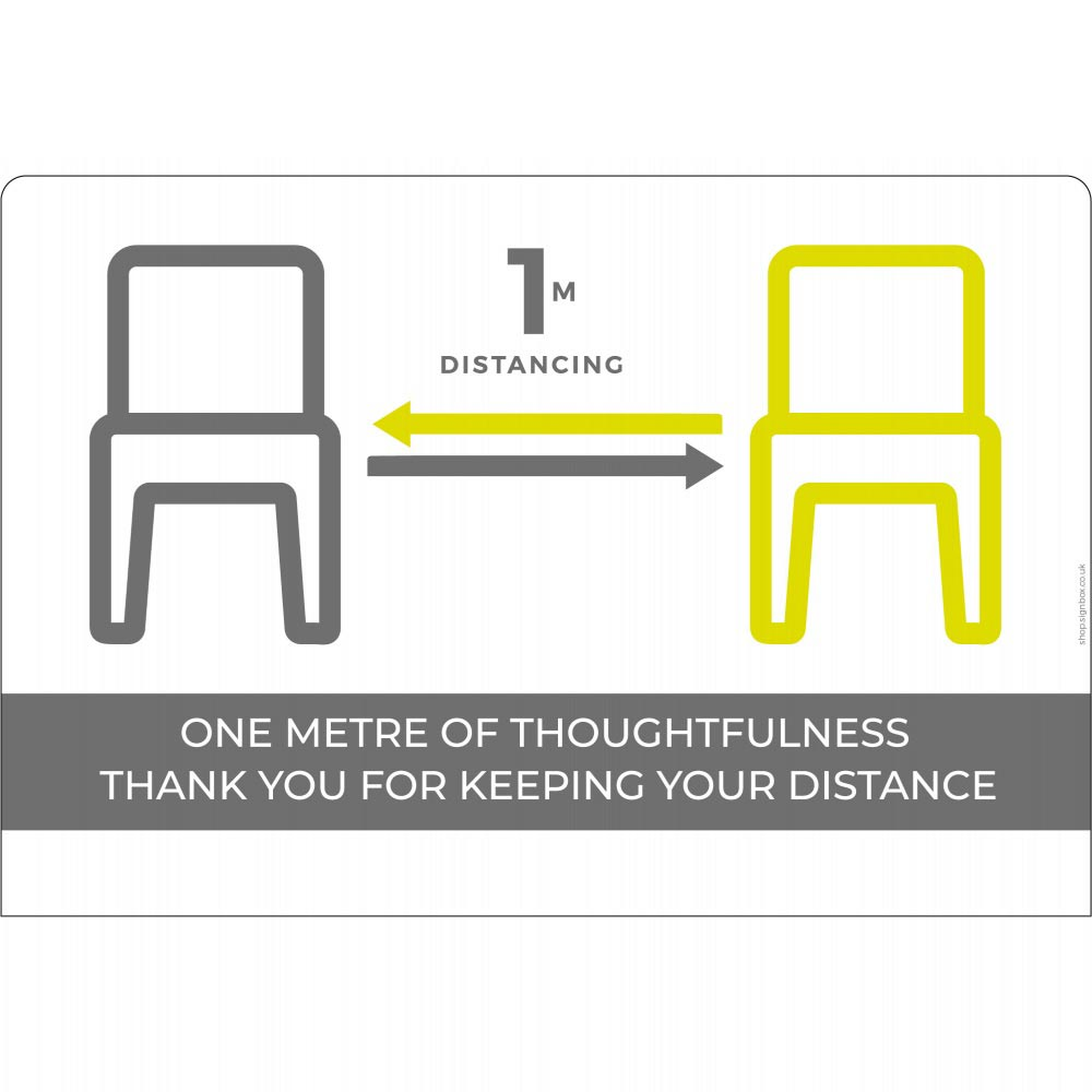 Seating social distancing 1m+ - White