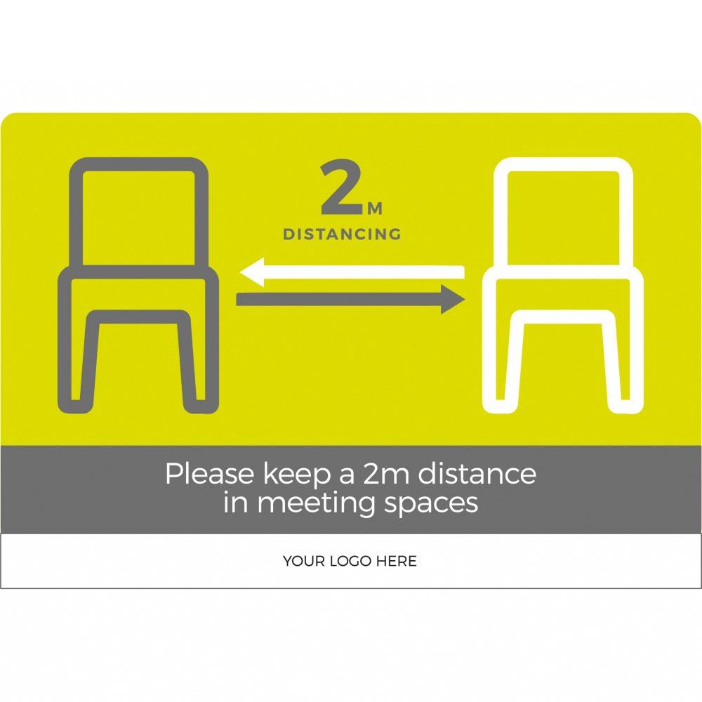 Seating social distancing 2m - Green