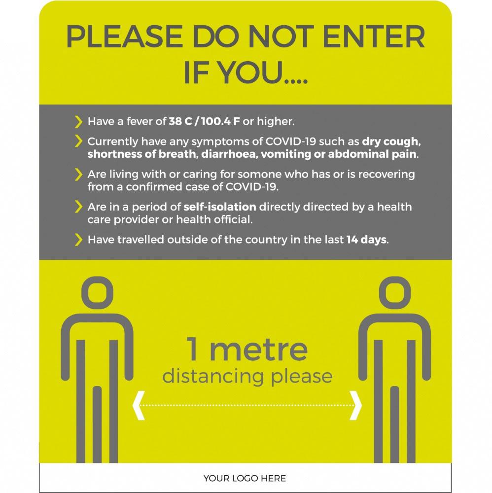 Do Not Enter - 1m - Lime Green
