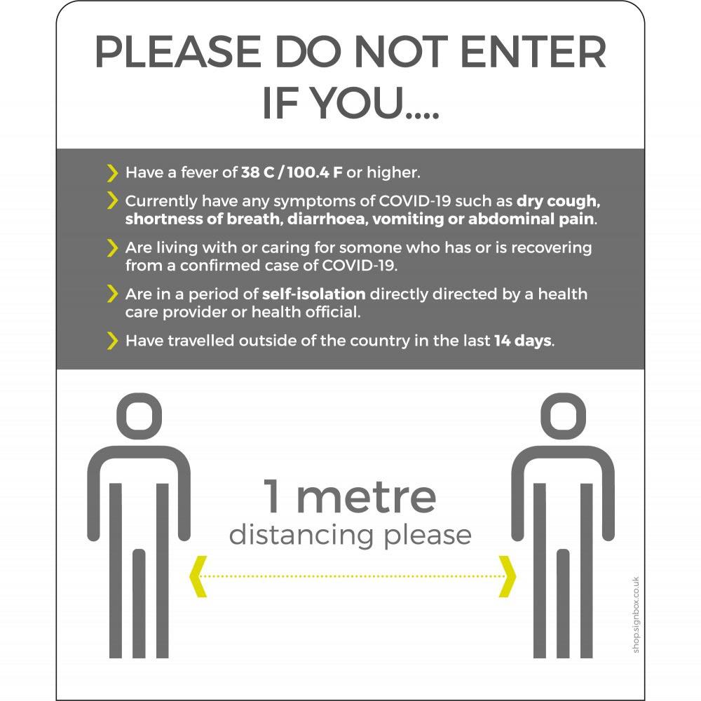 Do Not Enter - 1m - White