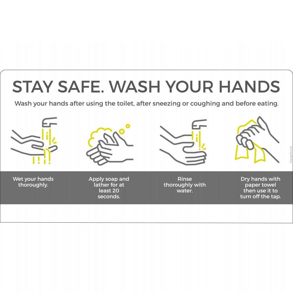 Wash your hands - White